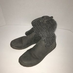 Ugg sweater knitted winter boots size 7 gray